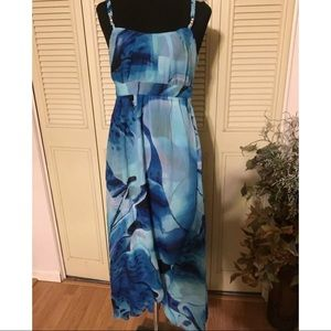 WHBM Maxi Sleeveless Dress Asymmetrical Size 4